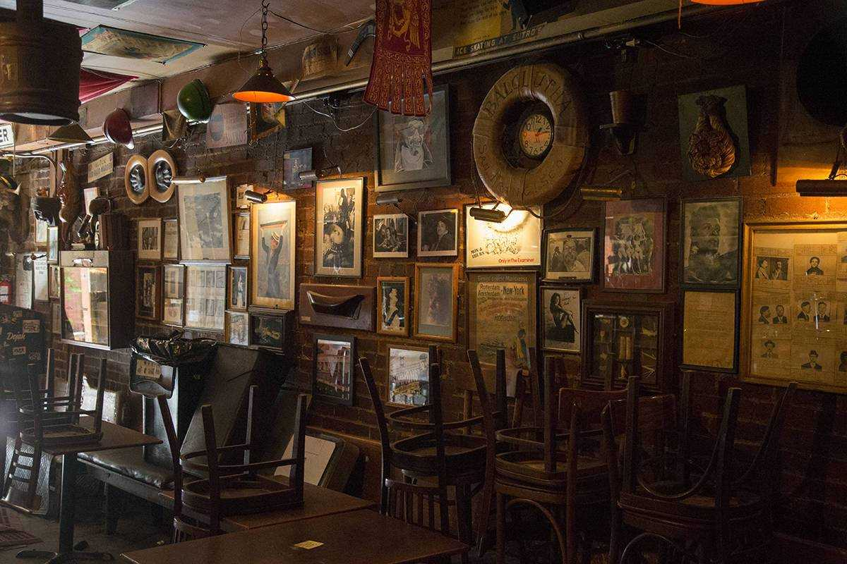 Memories line the walls at Specs ??  12 Café at the Adler Museum.  (Kevin N. Hume / SF Examiner)